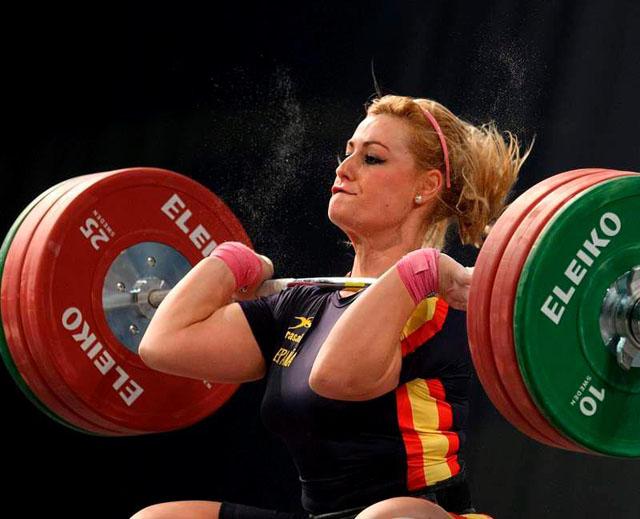 Imagen de la berciana durante la competición