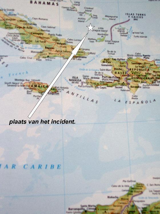 Mapa donde aparece el punto en el que el Aranzazu fue atacado. Fotografía de Tiscali