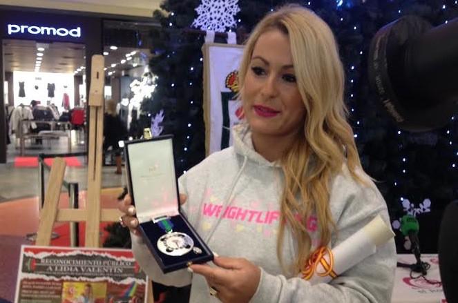 Lidia Valentín, con la medalla de plata de la Real Orden al Mérito Deportivo