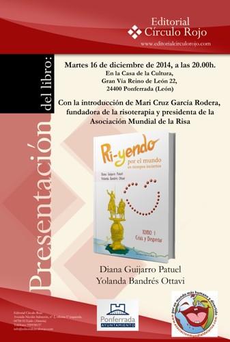 Cartel Presentación en Ponferrada Ri-yendo por el mundo