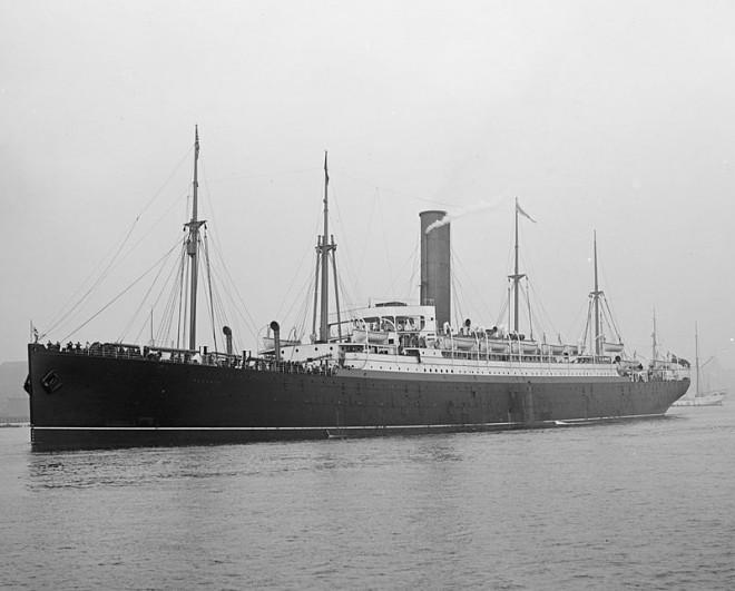 El Saxonia, el buque en el que Larequi llegó a Estado Unidos