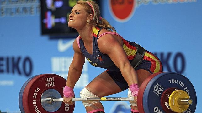 Lidia, en un momento de la competición en Georgia, donde se proclamó Campeona de Europa (ABC)