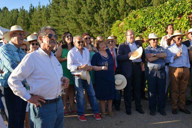 Imagen de la celebración del 25 aniversario de los vinos de Prada a Tope. / QUINITO