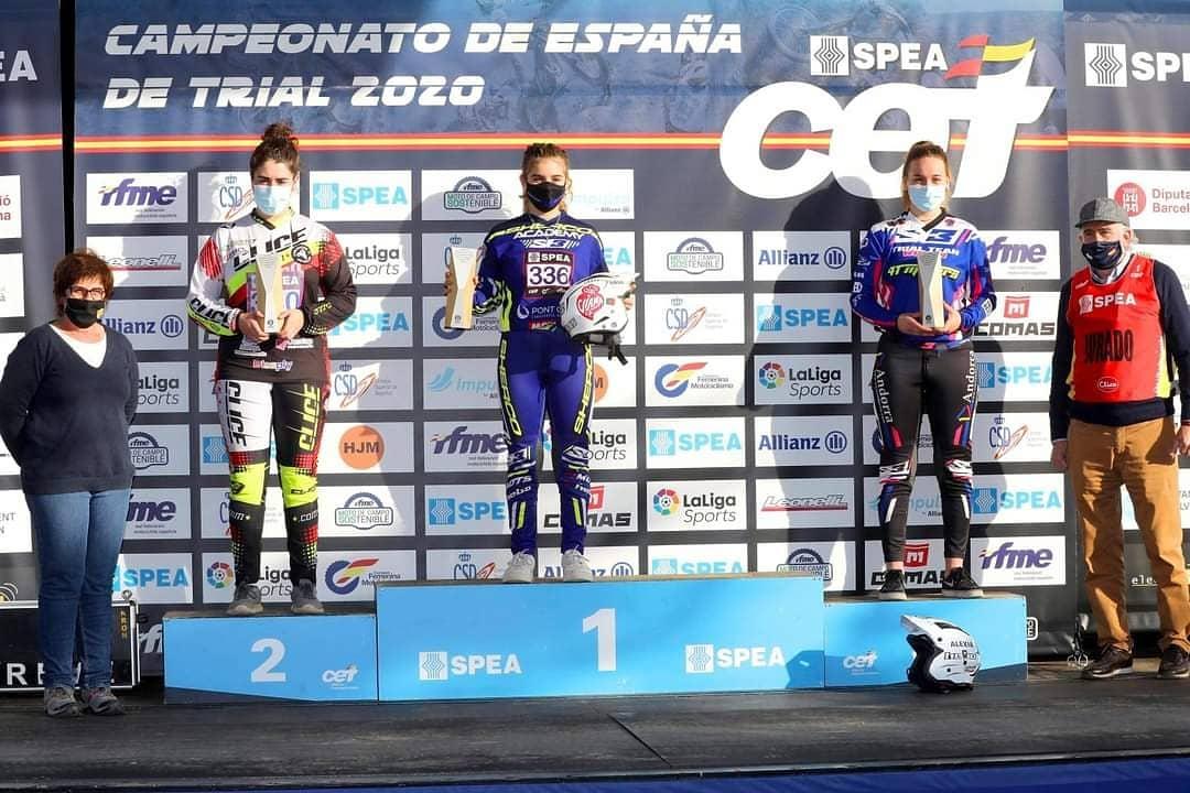 Lucía Gómez trial podium Campeonato de España