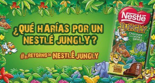 Nestlé Jungly: una tableta de chocolate con leche y galleta