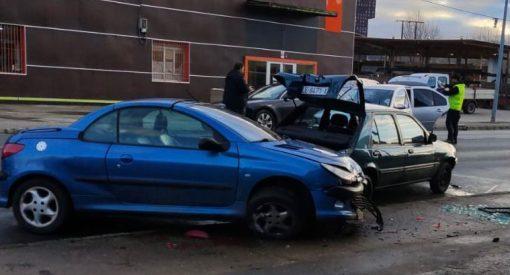 Aparatoso accidente en Avenida Galicia