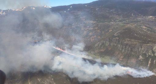 Incendio forestal en Porcarizas