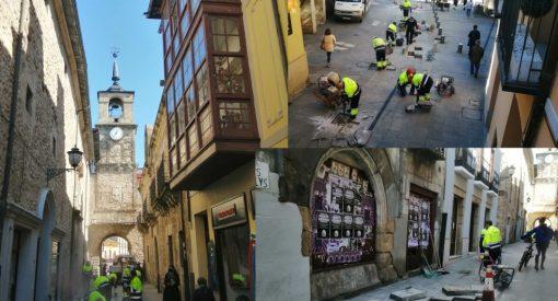 obras calle reloj
