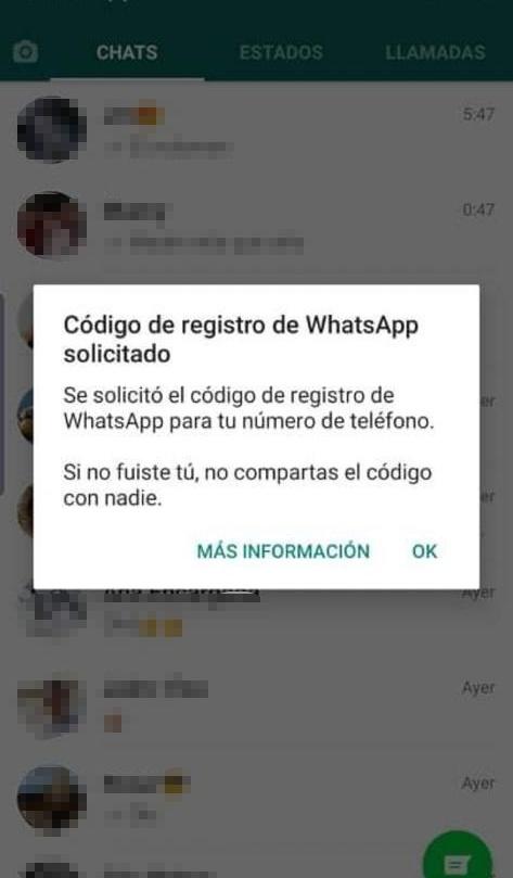 Código de seis dígitos de WhatsApp (1)