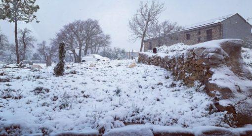 Nieve en Foncebadón