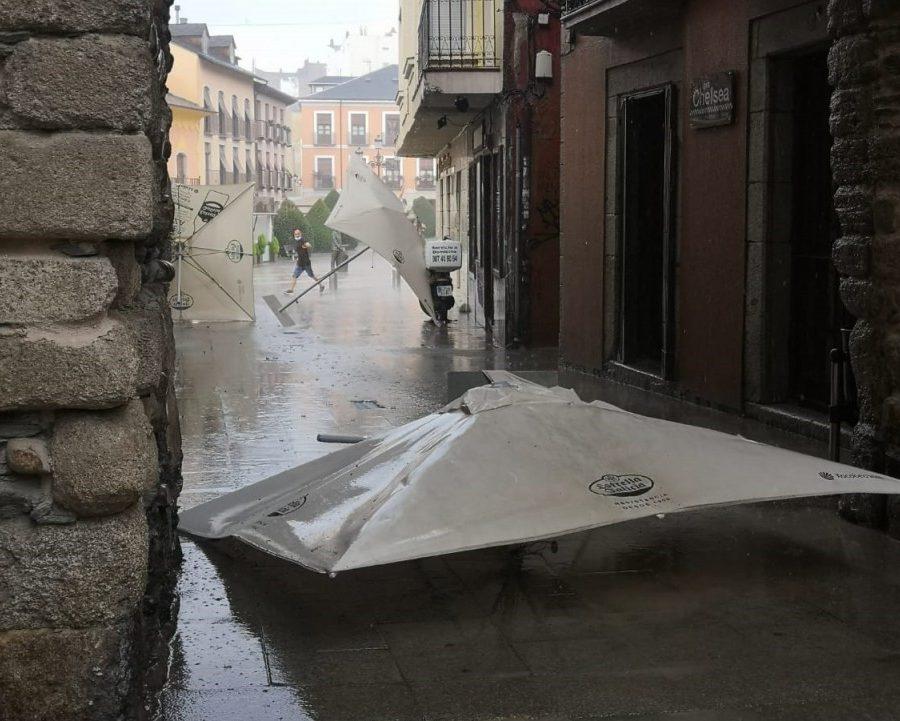 tormenta en Ponferrada