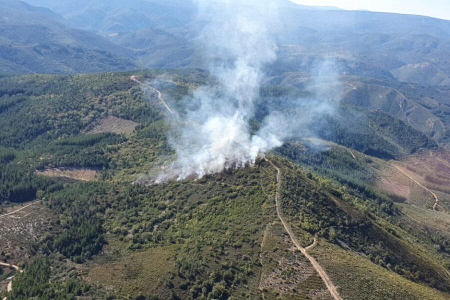 Incendio forestal en Ocero